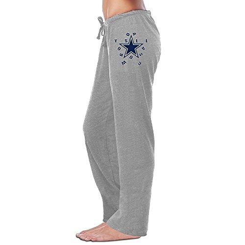 Dallas Team Logo Cowboy Sweatpants Running Pants For Womens Ash