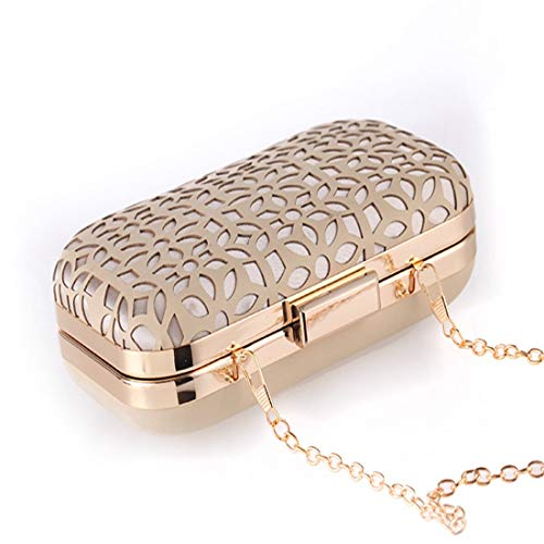 Evening Elegante Gold Cheongsam Simple Gold color Black Party Exquisite Bolso Igspfbjn Gold Mujer Para Clutch 6SX8Eqw