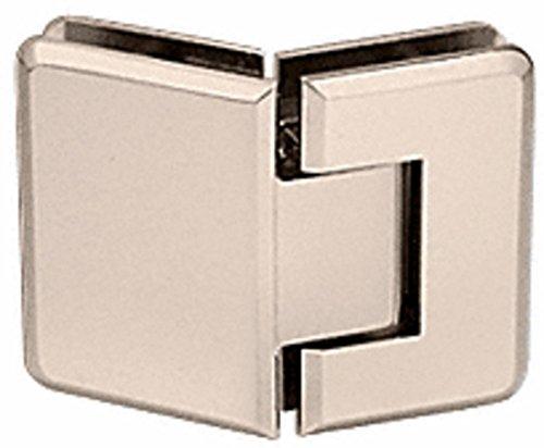 - CRL Pinnacle 345 Series Satin Nickel Adjustable 135176; Glass-to-Glass Hinge