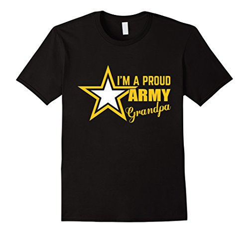 Mens I'm A Proud Army Grandpa T-shirt 2XL Black