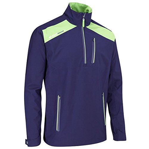 Stuburt Golf 2017 Mens Endurance Lite Waterproof Half Zip WindProof Pullover Midnight Large