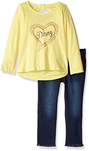 DKNY Girls 2 Piece Lemonade Top and Denim Jean Set