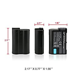 EN-EL15 Battery for Nikon D600, D610, D750, D800, D800e, D810, D810a, D7000, D7100, D7200, 1 v1 Cameras   Rechargeable Li-Ion Battery