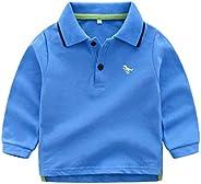 YUN HAO Baby Boys'Long Sleeve Shirt Solid Color