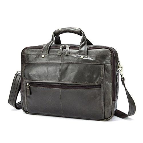 39x10x30cm Leder Herren Sucastle Schultertasche ® Messenger Kapazität Perfektes Bag Kuriertasche Vintage Geschenk Große Design Umhängetasche 44Bwrxqa