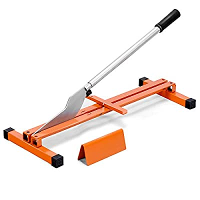Goplus Vinyl Floor Cutter Laminate Flooring Cutter Hand Tool V-Support Wood Planks Heavy Duty Steel Quick Cut