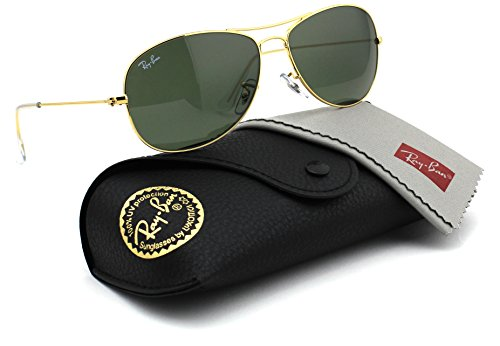 Ray-Ban RB3362 001 Cockpit Gold Frame / Crystal Green G-15 Lens - Ray Sunglasses Bans Discount Sale
