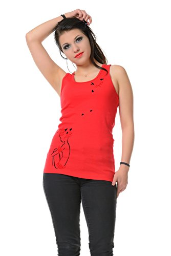 Verano Mujer Birds Top Lady Girl Top Camisole 3elfen Print Moda Sexy Camiseta sin Red Tank mangas Chic n1RBwIp