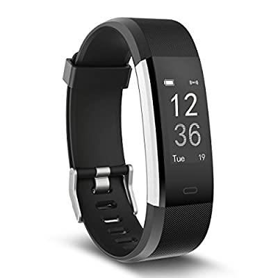 Fitness Tracker Watch,TOOBUR IP67 Waterproof Activity Tracker with Pedometer Heart Rate and Sleep Monitor,Step Calorie Counter Wristband Smart Watch for Android and iOS