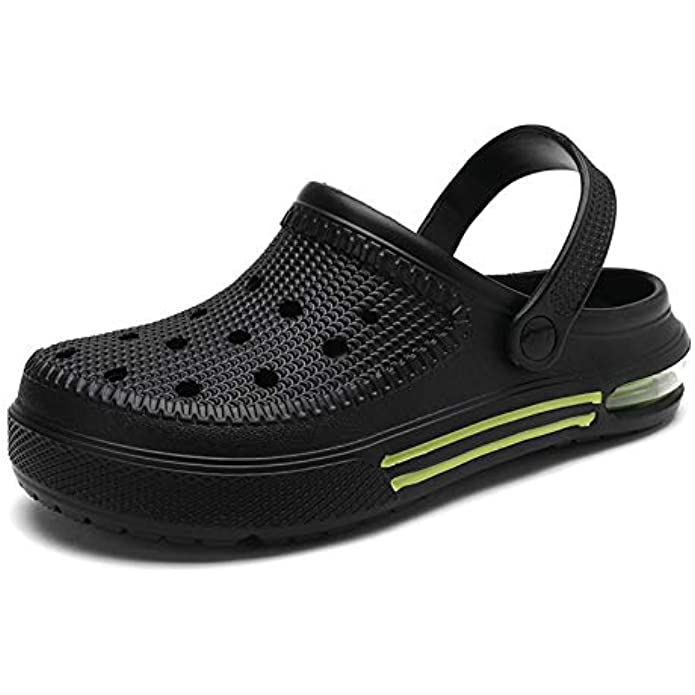 Aringa Mens Garden Clogs Shoes House Slippers Indoor Outdoor Air Cushion Sandals Quick Drying Shower Walking Shoes for Men Male