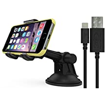 RND Vehicle Charging Dock for iPhone (6 / 6 Plus / 5 / 5S / 5C) iPad (Air / Mini) iPod Touch (Compatible with or without a slim fit case.) (Black)