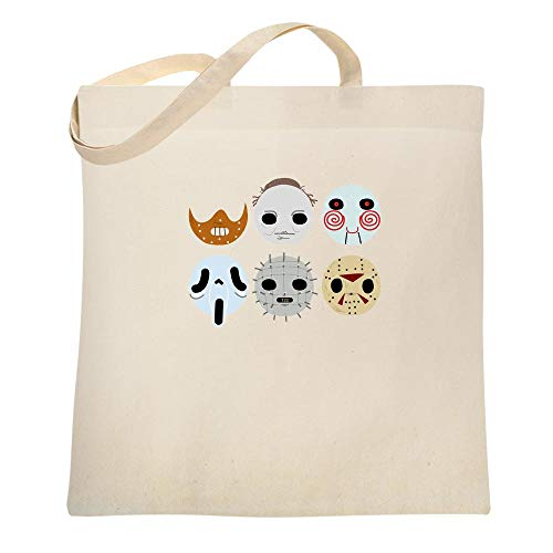 Horror Masks Halloween Costume Monster Natural 15x15 inches Canvas Tote Bag -
