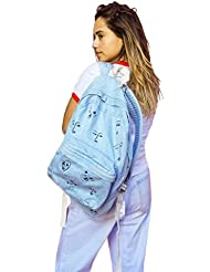 The Style Club - Faces of Love Denim Backpack