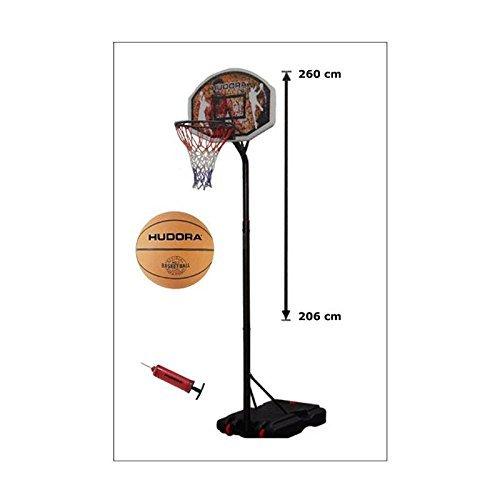 Hudora 71664 Basketballkorb-Set Chicago mit Ball und Pumpe
