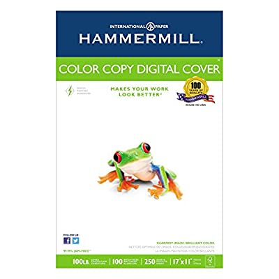 Hammermill - Color Copy Digital Cover, 92 Brightness, 17 x 11, Photo White, 250 Sheets/Pack