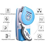 Kizove Handheld Mini Fan Speed Adjustable Personal Cooler Fan Portable USB Rechargeable Battery Operated Electric Fan for Office/Home/Travel (Blue)