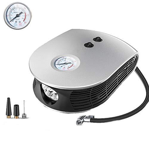 QXKMZ Air Compressor, Air Compressor Pump Portable Electric Pump Auto Tire Pump Analog Pressure Gauge