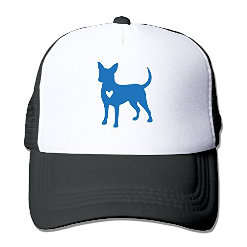 Unisex Chihuahua Clipart Silhouette Two Tone Trucker Hat Mesh Ball Cap - The Great Outdoors
