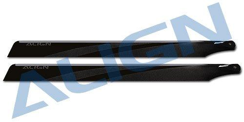 425 Carbon Fiber - Yoton Accessories Align Trex 425 Carbon Fiber Blades-Black HD420H Align trex 500 Spare Parts with Tracking