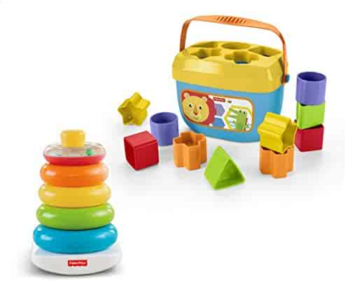 Fisher-Price Rock-a-Stack & Baby's First Blocks Bundle (Amazon Exclusive)