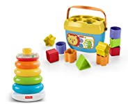 Fisher-Price Rock-a-Stack and Baby's First Blocks Bundle [Amazon Exclus