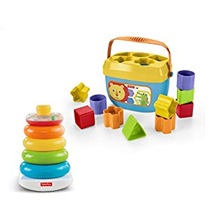 Fisher-Price Rock-a-Stack & Baby's First Blocks Bundle