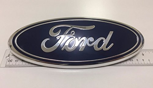 """2x Pack FORD F150 Dark Blue Grille Tailgate Emblem 2005-14, Oval 9""""X3.5"""", 3 Mounting Tabs, Also Fits 05-07 F250 F350, 11-14 Edge, 11-16 Explorer, 06-11 Ranger"""