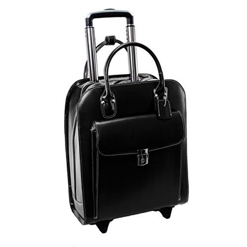 McKlein USA Uptown Black 15.6'' Leather Vertical Wheeled Ladies' Briefcase (97695) by McKleinUSA