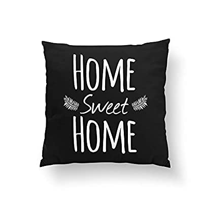 Christ-EZ Home Sweet Home Typography Pillow Pillowcase Pillow Cushion Cover Cases Single Side 16x16