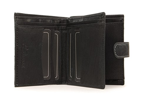 Coin amp; Black Bill Wallet Fold Gift Buffalo Leather Box Ashwood Flipside pwXqtaxw7