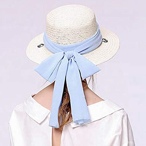 Uso De Ala Grande Elegante Para Playa Sombrero Panamá Casual Uv Mujer Doble Ancha Paja Sun Cinta TRdYwWBqxW