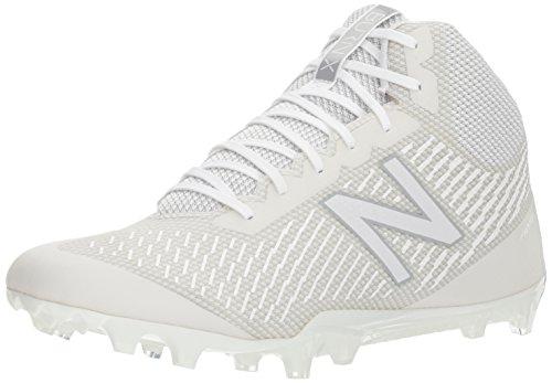 New Balance Men's Burn Mid Speed Lacrosse Shoe, White, 7.5 2E US by New Balance