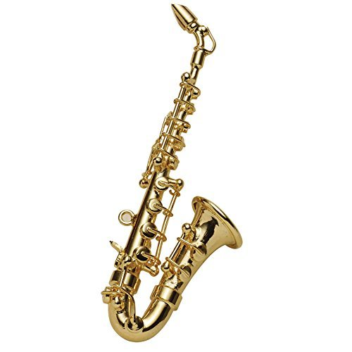 BROADWAY GIFTS Women's Miniature Musical Instrument Lapel Pins - Velvet Lined Case - Saxophone