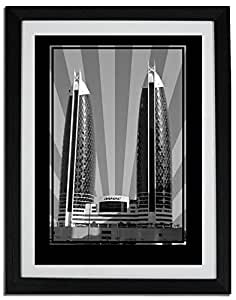 Photo of Damac Tower-Black And White No Text F06-NM (A3)