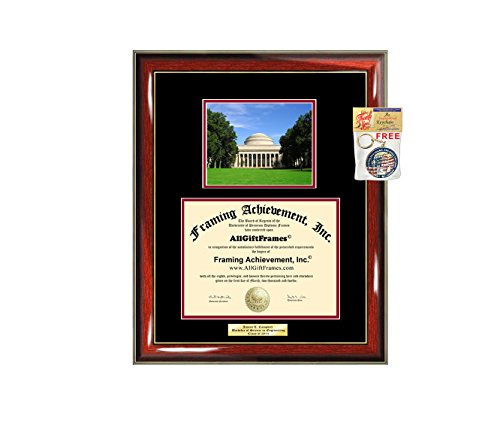 Diploma Frame Massachusetts Institute of Technology MIT Graduation Gift Idea Engraved Picture Frames Engraving Degree Large Graduate Bachelor Masters MBA PHD Doctorate School (Doctorate Frame Diploma)