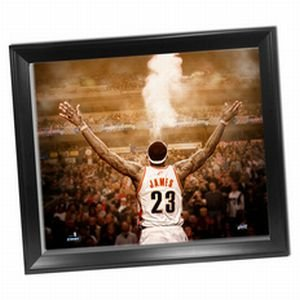 Cleveland Cavaliers LeBron James ''Powder'' Back View 24x26 Framed Canvas by Steiner Sports