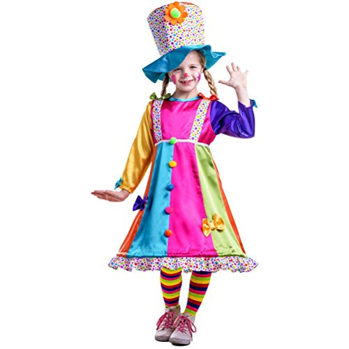 [Girls Polka Dots Clown Costume] (Circus Style Dance Costumes)