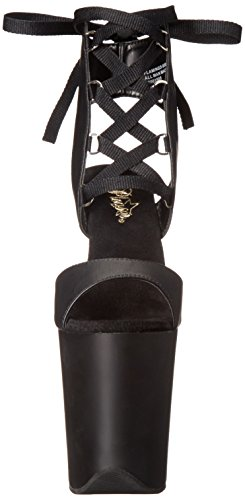 Pleaser Sandal Black Dress Faux 14 Women's FLAM800 Matte Platform M BPU Leather Black grqp6wg
