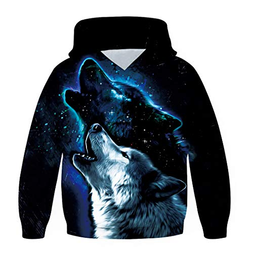 chicolife Jongens Meisjes Hoodies 3D Cool Hoody Grappige Trui Sweatshirts Lange Mouw Hooded Truien met Zak S-XXL