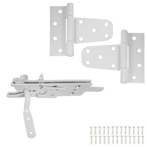 National Hardware N343-442 DPV876 Vinyl Fence Gate Kit in White powder coat -