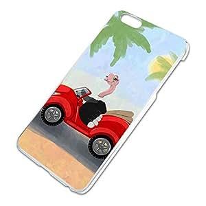 Ostrich Driving a Car Slim Fit Hard Case Fits Apple iPhone 6 Plus