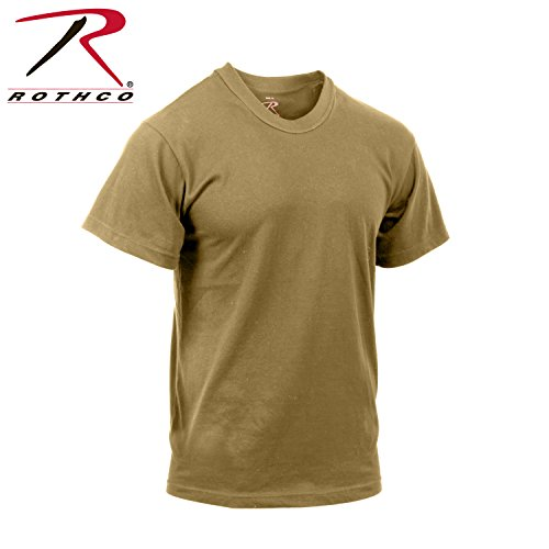 Moisture T-shirt Military Wicking - Rothco Moisture Wicking T-Shirt, Brown, Large