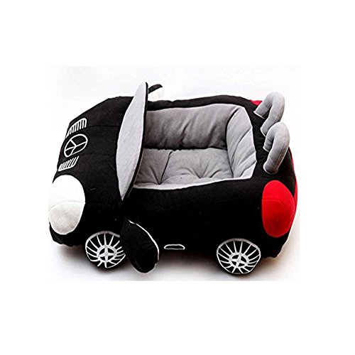 Colorful House INN Design-New Deluxe Cute Cozy Black Car Pet Beds Cover for Small-Medium Dog 27.6 x19.7 x7.9