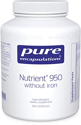 Pure Encapsulations - Nutrient 950 without Iron - Hypoallergenic Multi-vitamin/Mineral Formula for Optimal Health* - 360