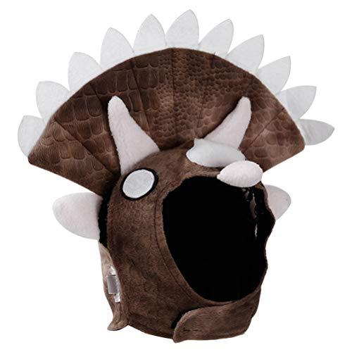 POPETPOP Dog Triceratops Head Cap Dress Up Hat