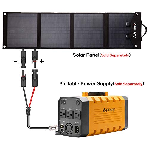 Aeiusny Solar Panel Cable MC4 Connector Adapter Cable Portable Inverter Generator UPS Battery Backup Solar Charging by Aeiusny (Image #4)