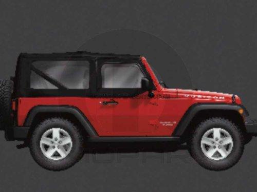 Jeep 2007-2010 Wrangler Tinted Soft TOP Windows KIT - Soft Jeep Mopar Tops