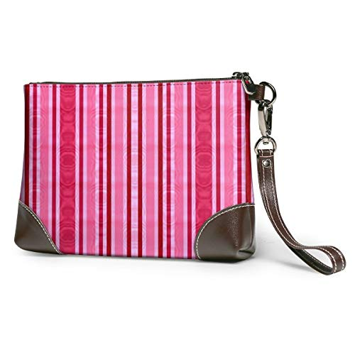 Striped Moire Leather...