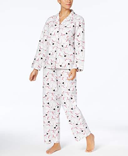 Charter Club Happy Snowman Flannel Pajama Set Large