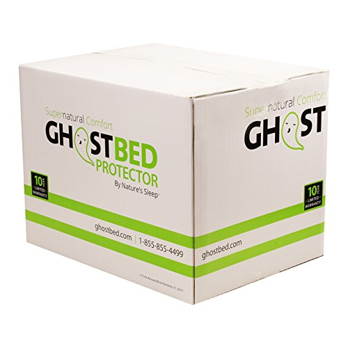 GhostBed Queen Premium Mattress Protector - Noiseless - 100% Waterproof Mattress Protector - Guaranteed to Fit and to Stay On with Patented GhostGrips - Industry Leading 10 Year Warranty
